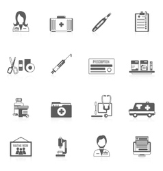 Doctor icon set vector