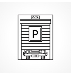 Line icon for parking garage vector