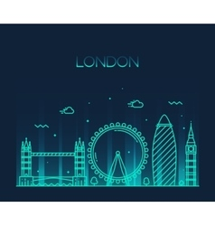 London england trendy line art style vector