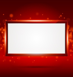 Red frame vector