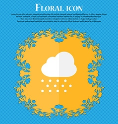 Snowing floral flat design on a blue abstract vector