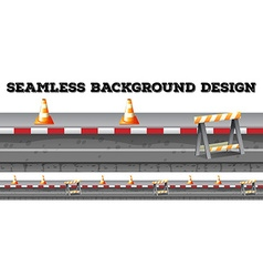 Seamless construction along the road vector