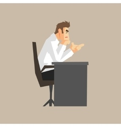 Boss At His Desk vector image