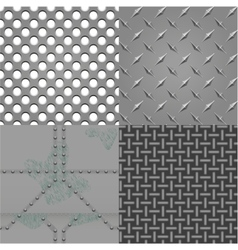 set of metal textures vector image