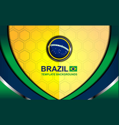Brazil flag color backgrounds style vector