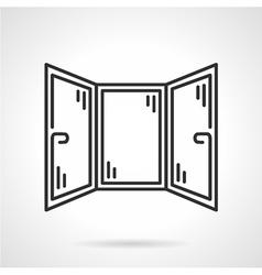 Black line icon for corner window vector image