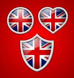British icons vector image vector image