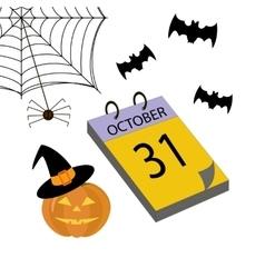 Calendar halloween vector image vector image