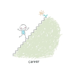 Career Ladder vector image