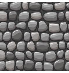 cartoon gray stone texture seamless vector image