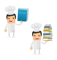 chef with books vector image