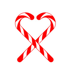 Christmas candy cane cross love vector