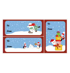 christmas gift tags vector image