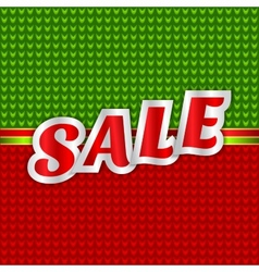 Christmas sale message vector