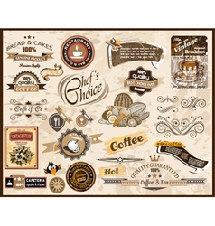 Collection of vintage labels vector