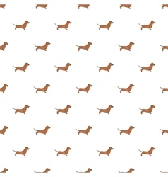 Dachshund dog pattern cartoon style vector