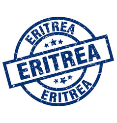 Eritrea blue round grunge stamp vector