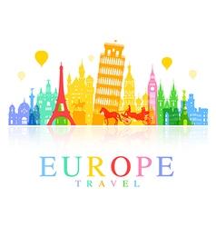 Europe Travel Landmarks vector image