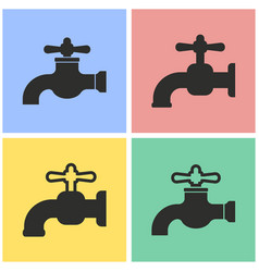 faucet icon set vector image
