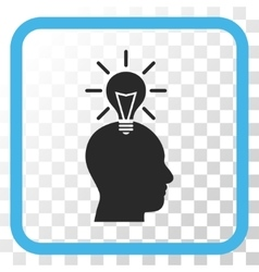 Genius bulb icon in a frame vector