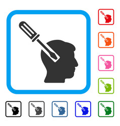 head screwdriver tuning framed icon vector image vector image