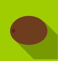 kiwi icon flat singe fruit icon vector image vector image