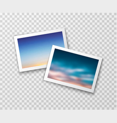 photo frames with blurred landscapes vector image