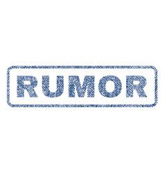 Rumor textile stamp vector