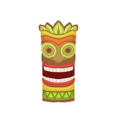 Smiling totem hawaiian vacation classic symbol vector