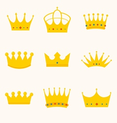 vintage antique crowns vector image vector image