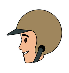 Worker portrait of delivery man with helmet vector