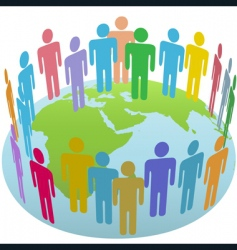 world people vector image vector image