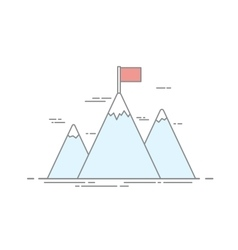 Concept of achievement image of high mountains vector