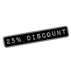 25 percent discount rubber stamp vector
