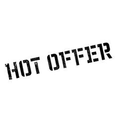 Hot offer stamp vector