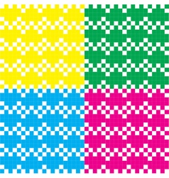 Heart pixel pattern colorful vector