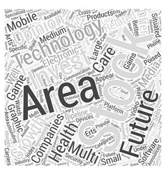 Invest in Technology Final Word Cloud Concept vector image