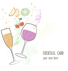 Cocktail card vector