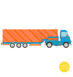 cartoon transport semi-trailer truck vector image