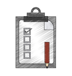 Color pencil report table icon with pen vector