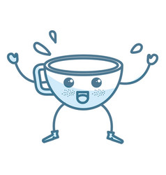 Coffee cup kawaii character vector