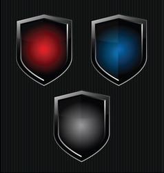 Black shield retro vintage black design vector