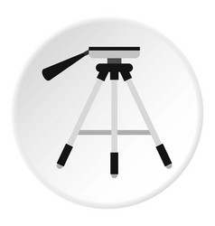 Tripod icon circle vector