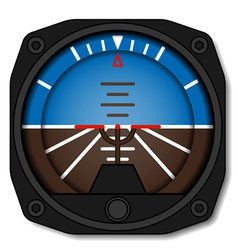 Aviation airplane attitude indicator - artificial vector