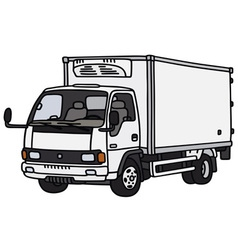 Small delivery truck vector