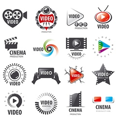 Biggest collection of logos for video production vector