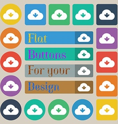 Download from cloud vector