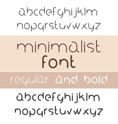Minimalist font bold and regular minimalism style vector