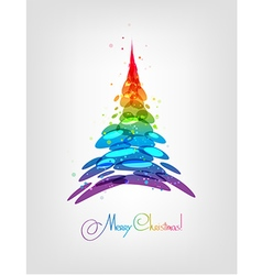 Abstract multicolored christmas tree vector