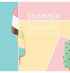 Modern typographic summer poster design vector
